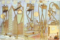 """Little Nemo in Slumberland, by Winsor McCay  """"Whoopeee! But I was scared! I'm glad I was just dreaming!"""""""