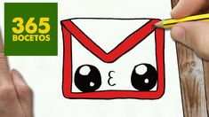 COMO DIBUJAR LOGO GMAIL KAWAII PASO A PASO - Dibujos kawaii faciles - How to draw a logo Gmail - YouTube