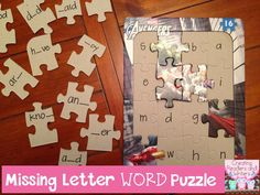 Sight Word Practice Puzzles: The children think about which letter is missing from each sight word to assemble the puzzle. (Blog Post from Creating Readers and Writers) #sightwords