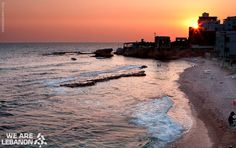 Sunset from #Batroun الغروب في #البترون Photo by Khaled Merheb