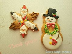 "I want to be a good gift ☆ ...... icing cookies |!! ""Christmas Cookies ☆      http://ameblo.jp/funa-6351/"