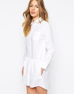 MiH Jeans The Gathered Shirt Dress