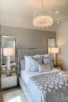 With the change of the season, many homeowners feel inspired to decorate and remodel their homes. To help you with your spring interior design efforts, I share my top ten decorating tips and tricks to help you decorate like a pro! Grey Bedroom Decor, Room Ideas Bedroom, Bedroom Inspo, Inspire Me Home Decor, Unique Home Decor, Luxury Bedroom Design, Luxurious Bedrooms, My New Room, Home Decor Inspiration