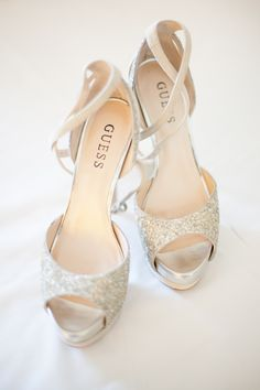 sparkly guess wedding shoes | www.sarahlanette.com