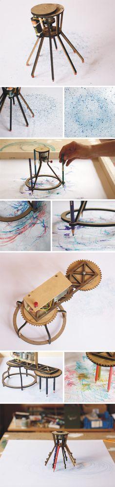 drawbot Mechanical Art, Mechanical Design, Writing Machine, Couple Crafts, Cool Art Projects, Smart Art, Generative Art, Automata, Mark Making