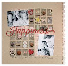happiness {jenni bowlin march kit} - Scrapbook.com