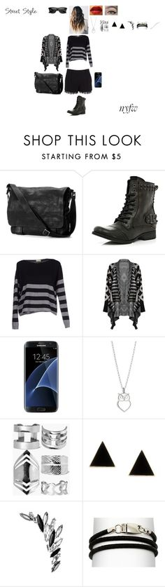 """""""NYFW Street Style: Day One"""" by leacousty55 ❤ liked on Polyvore featuring Diane Von Furstenberg, Frye, River Island, Murbes, Samsung, Boohoo, NOVICA, Argent and Retrò"""