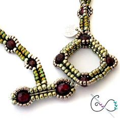 beAd Infinitum Patterns and Kits: Beaded Rivoli Urchin Pendant and Necklace
