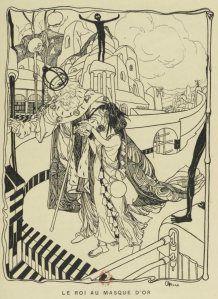 Marcel Schwob - Le Roi au masque d'or, ilustración de Georges de Feure (1899)
