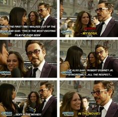 IN THE MOVIE!?!?! Robert Downey Jr is so hilarious