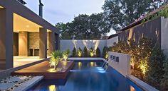 Pool deck - twilight lighting