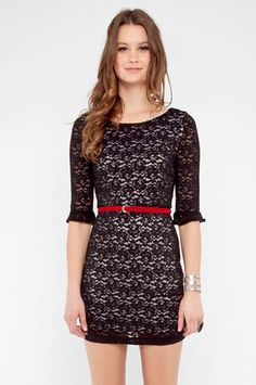 Reminds me of a certain princess- Make it Lace Forever Dress in Black $40