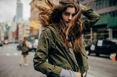 Looking beautiful in the city- fashion- street style- plus gorgeous hair!