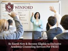 WinFord High School – Enroll now & become eligible to exclusive academic Counseling Services for Free!