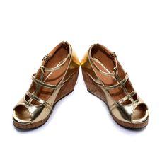 CSS Women Golden Formal Sandal-CSS0058A