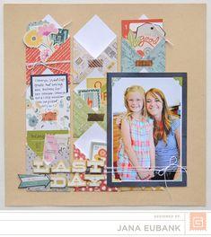#papercraft #scrapbook #layout   Basics   Mon Ami   Jana Eubank with a mini envelope tutorial