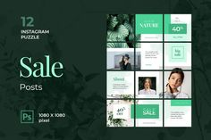Instagram Puzzle – Natural Fashion Sale, is a professional, modern and elegant template for your Instagram posts and Gallery. Inspirational Posts, model photography, product Gallery, introduce your brand and more. With this Instagram post template, you can easily improve the quality of your Instagram with a more attractive and professional one.This template is fully editable and can be customized in Adobe Photoshop. It's very simple to use these template in Photoshop. Just edit texts and put… Instagram Banner, Instagram Feed, Instagram Posts, Adobe Photoshop, Puzzles, Envato Elements, User Experience Design, Instagram Post Template, Photography