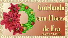 GUIRLANDA COM A FLOR BICO DE PAPAGAIO EM EVA -  DIY
