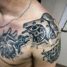 biomechanik-tattoo-herz-oberarm-zahnraeder-getriebe.jpg (750×750)