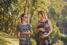 Acompanhamento mensal - crescimento da barriga - amigas grávidas - 13 e 12 semanas