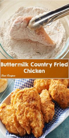 and Drink dinner Buttermilk Country Fried Chicken Country Fried Chicken, Fried Chicken Recipes, Baked Chicken, Baked Buttermilk Chicken, Easy Boneless Fried Chicken Recipe, Fried Chicken Thighs Boneless, How To Fry Chicken, Fried Chicken Marinade, Snacks