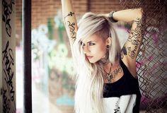 Tattoo Model - Sara Fabel | www.worldtattoogallery.com/tattoo-models-gallery