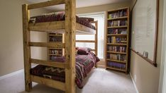 Check It Out! 13 Stylish Bunk Beds with Built In Desk - 11 Free Diy Bunk Bed Plans You Can Build This Weekend. See Also 12 Inspirational Examples Of Built In Bunk Beds Bunk Room. Queen Bunk Beds, Adult Bunk Beds, Kids Bunk Beds, Loft Beds, Bunk Bed With Desk, Bunk Beds With Stairs, Cool Bunk Beds, Custom Bunk Beds, Wooden Bunk Beds