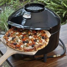 Pizzeria Pronto Portable Outdoor Pizza Oven - This lightweight, portable pizza maker preps pies in as little as 5 minutes!