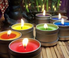 7 CHAKRA CANDLES SET - Chakra Meditation Tools to Clear Open & Balance Your Chakras