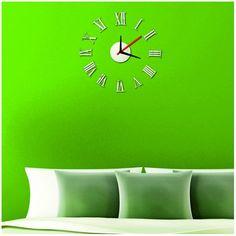 Rímske hodiny zrkadlové. Nalep si ma na stenu.