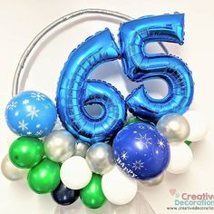 65th birthday balloons. Small hoop display. Birthday Decorations For Men, Balloon Decorations, Wedding Decorations, Balloon Stands, Balloon Display, Small Balloons, Number Balloons, 65th Birthday, Birthday Gifts