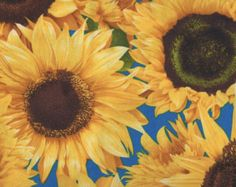 sunflower fabric – Etsy
