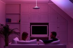 Create any desired colored or mood light for a romantic evening. Luke Roberts, Mood Light, Romantic Evening, App Control, Smart Design, Downlights, Energy Efficiency, Lamp Design, White Light