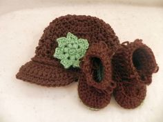 Newsboy Hat and Fringed Bootie Set SALE RTS by mccdingbat on Etsy, $25.00