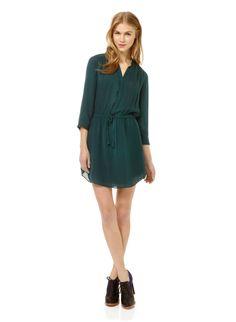 BABATON BENNETT DRESS - An elegant, feminine shirtdress in luxe silk georgette
