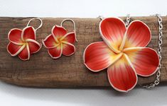 Your place to buy and sell all things handmade Polymer Clay Flowers, Clay Design, Handmade Polymer Clay, Hair Pins, 925 Silver, Handmade Jewelry, Gift Wrapping, Pendant, Earrings