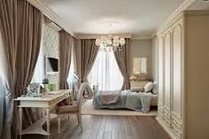 Russian Apartment Bedroom Lavish Russian Apartment Design White Bedroom Furniture In Luxury Classic Design Used Minimalist Space With Beige Curtain Ideas. Classy And Classic Interior Design In Neutral Color Decorations - Homechoc Taupe Bedroom, White Bedroom, Bedroom Colors, Modern Bedroom, Bedroom Decor, Bedroom Curtains, Bedroom Ideas, Pretty Bedroom, Bedroom Brown