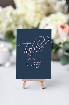 Navy and Blush Table numbers | printable wedding table number | wedding table number | navy wedding decorations | print at home