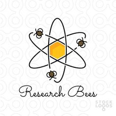 Exclusive Customizable Logo For Sale: Research Bees | StockLogos.com:
