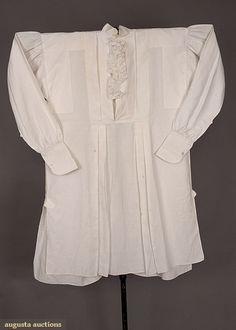 Reference for men's shirt collar  LINEN SHIRT, 1840-1860
