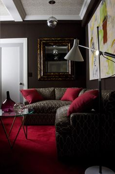 Red and brown: very chic!