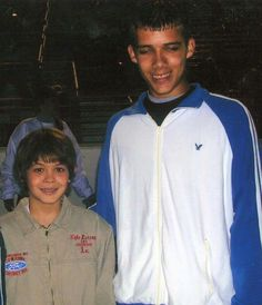 TBT...Kyle Larson with open wheel driver and Chili Bowl Champion, Bryan Clauson