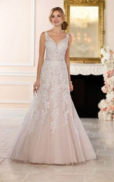 Wedding Dresses Lace Color 6612 Open Back Wedding Dress with Beading by Stella York.Wedding Dresses Lace Color 6612 Open Back Wedding Dress with Beading by Stella York Open Back Wedding Dress, Lace Wedding Dress, Bridal Party Dresses, Best Wedding Dresses, Bridal Gowns, Wedding Gowns, Champagne Wedding Dresses, 2017 Wedding, Trendy Wedding