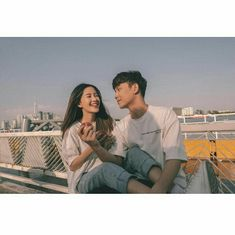 Image may contain: 3 people, people sitting, vote . Love Couple, Best Couple, Couple Goals, Relationship Goals Pictures, Cute Relationships, Couple Posing, Couple Shoot, Korean Best Friends, Couple Aesthetic