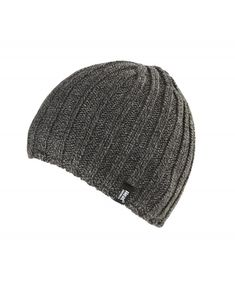 Buy Men s Thermal Fleece Ribbed Knitted Winter Hat 3.4 Tog - One Size -  Charcoal Grey 8c61fc38ce65