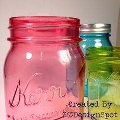 How to color mason jars with alcohol in for a  streak free finish.