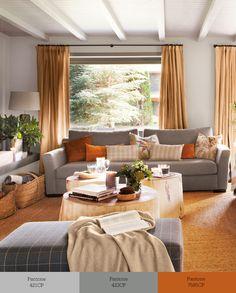 Tríos de colores que transforman tu salón Living Room Paint, Living Room Decor, Living Spaces, Sofa Gris, Sala Set, Sofa Colors, Interior Decorating, Interior Design, Outdoor Furniture Sets