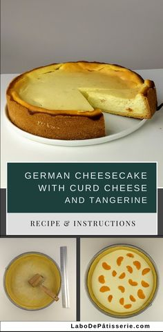 """Recipe for """"Käsekuchen"""" German Cheesecake with Curd Cheese and Tangerine German Cheesecake, Healthy Cheesecake, Baked Cheesecake Recipe, Best Cheesecake, Cheesecake Desserts, Classic Cheesecake, Homemade Cheesecake, Easy No Bake Desserts, Best Dessert Recipes"""