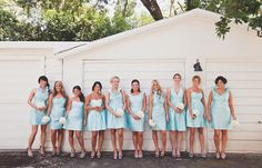 Bridesmaid dresses from LulaKate...i like how they are all just alil different