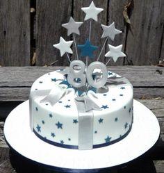 Birthday Cakes For Men 80th Birthday Cake For Men, Happy 80th Birthday, Good Birthday Presents, Birthday Cupcakes, Birthday Present Cake, Birthday Ideas, Dad Cake, Blue Cakes, Birthday Cake Decorating